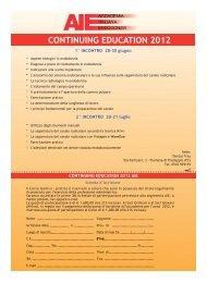 continuing education 2012 - Accademia Italiana Endodonzia