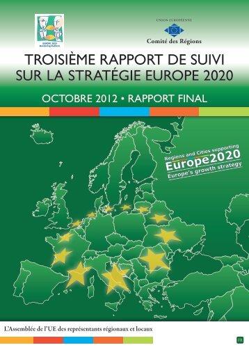 troisième rapport de suivi du CdR sur la stratégie Europe ... - Europa