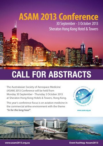 CALL FOR ABSTRACTS ASAM 2013 Conference