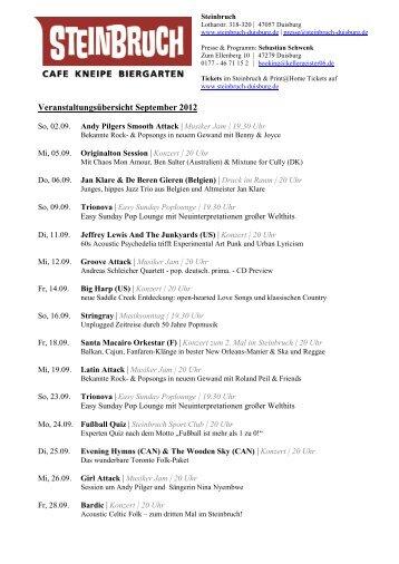 Veranstaltungsübersicht September 2012 - Grammatikoff