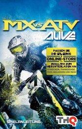 SPIELANLEITUNG - MX vs ATV Alive