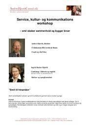 Service, kultur- og kommunikations workshop - AndersHjorthConsult.