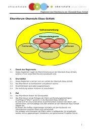 Reglement Elternforum 2013 - Oberstufe Elsau-Schlatt
