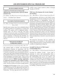 EB-SPONSORED SPECIAL PROGRAMS - Experimental Biology