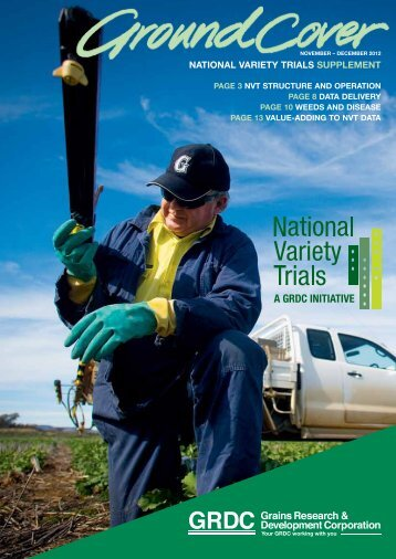 NatioNal variety trials supplemeNt - Grains Research ...