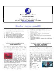 Kalendārs janvāris - marts, 2004 - Ziemeļu Ministru padomes birojs ...