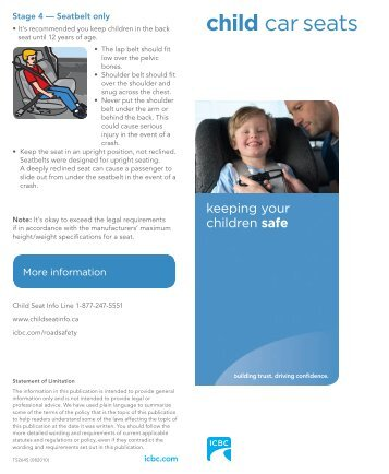 child car seats Brochure TS264S - Sto:lo Nation
