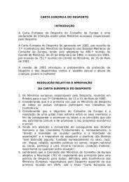 Carta Europeia do Desporto - Instituto do Desporto de Portugal