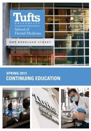 Spring 2013 Course Catalog - Tufts University School of Dental ...