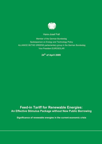 Feed-in Tariff for Renewable Energies - mbipv project