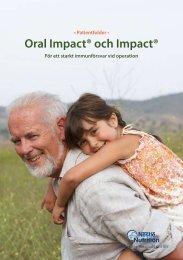 Oral Impact® och Impact® - Nestlé Nutrition