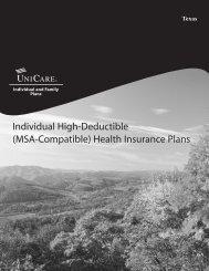 Individual High-Deductible (MSA-Compatible) Health Insurance Plans