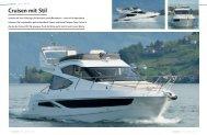 """Galeon 380 Fly """"Cruisen mit Stil"""" - boot24.ch"""