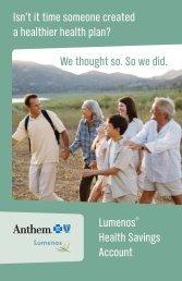 Lumenos HSA brochure - Health Insurance Leads