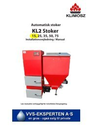 Stoker 15, 25, 35, 50, 75 Installationsvejledning / Manual - Fyrteknik