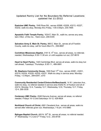 List of food pantries located in Manhattan Bronx Staten Island