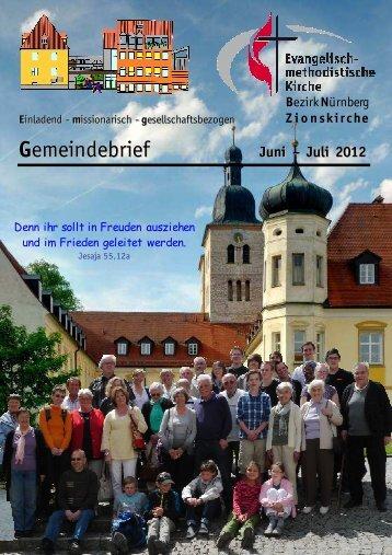 Gemeindebrief Jun-Jul 2012 - Zionsgemeinde