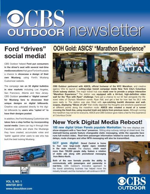 Winter 2012 - CBS Outdoor