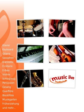 Klavier Keyboard Gitarre Saxophon Klarinette E-Gitarre ... - Music Live!