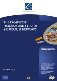 The Pro€Invest Program and Cluster & Enterprise Network
