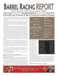 11/15 - Barrel Racing Report