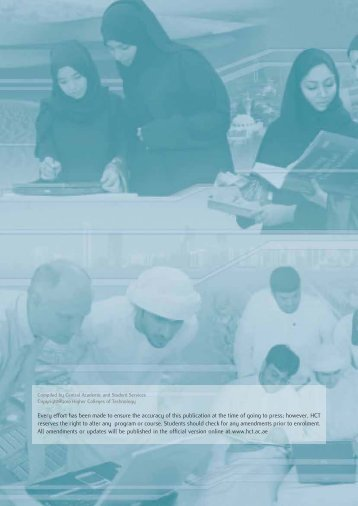 HCT Catalog 2010-2011 - Higher Colleges of Technology