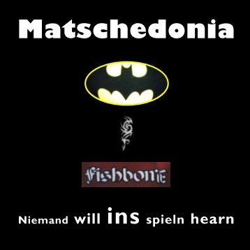 Booklet der CD - Matschedonia