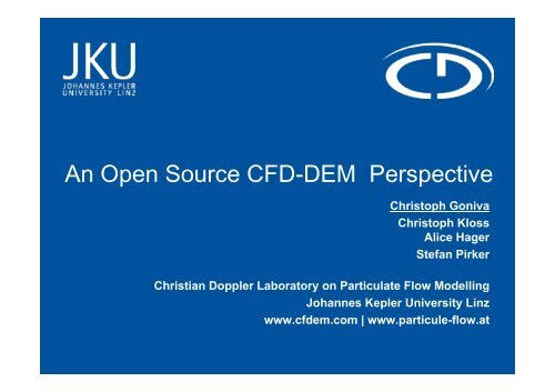 An Open Source CFD-DEM Perspective