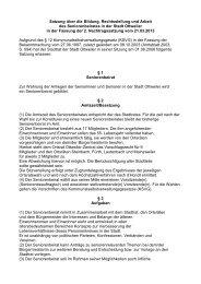 Satzung über die Bildung, Rechtsstellung und Arbeit des ... - Ottweiler