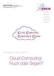 Cloud-Computing - ERCIS - European Research Center for ...