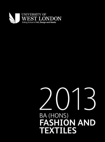 Download our Fashion and Textiles brochure (pdf, 6Mb)