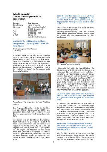 Schule im Autal - Offene Ganztagsschule in Sieverstedt