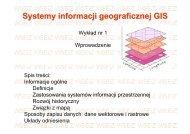 Systemy informacji geograficznej GIS