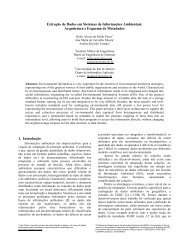 Extração de Dados em Sistemas de Informações Ambientais: