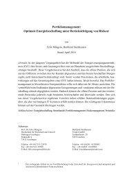 Portfoliomanagement: Optimale ... - r2b energy consulting GmbH
