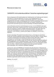 GARANTA mit kundenfreundlichen Versicherungsbedingungen