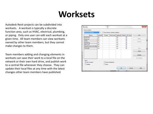 Worksets in Revit MEP pdf - BIM Wiki