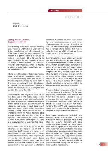 Adapter Technical Info (220KB pdf) - Lind Electronics