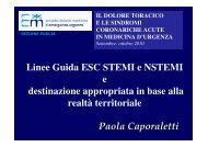 Linee Guida ESC STEMI e NSTEMI e destinazione ... - MEDEST