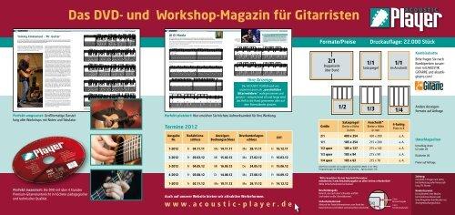 und Workshop-Magazin für Gitarristen -  Acoustic Player