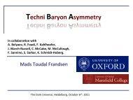 FRANDSEN, Mads: Techni Baryon Asymmetry - The Dark Universe