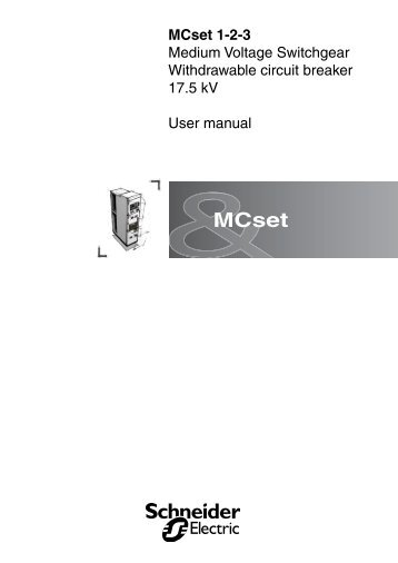 MCset user manual 0.73 MB - Schneider Electric