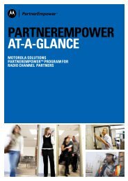 PARTNEREMPOWER AT-A-GLANCE - Motorola Solutions