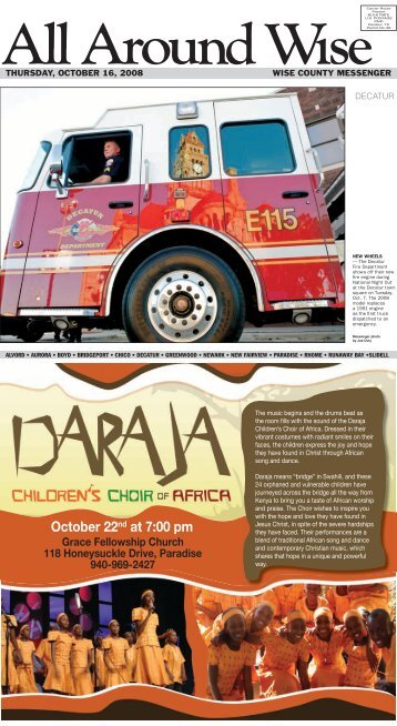 October 22nd at 7:00 pm - Wise County Messenger