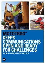 Enhanced Transmit Interrupt & GPS Suite - Motorola Solutions
