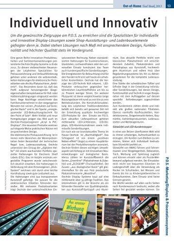 Individuell und Innovativ - Oechsle Display Systeme GmbH
