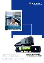MOTOROLA GM3689 5 TONE - Motorola Solutions