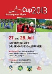27.und 28. Juli - SV Hohenfurch
