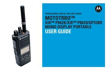 mototrbo xir p8608 ex non display portable user guide rh yumpu com Alcatel Phones Manual Jabra Bluetooth Manual