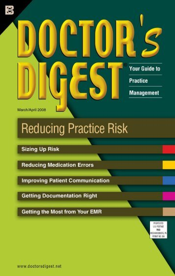 Mar/Apr 2008 REDUCING PRACTICE RISK